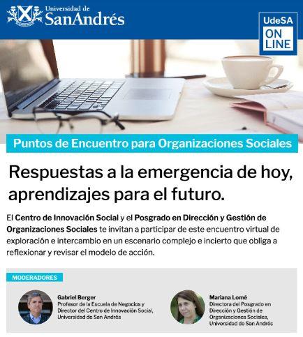 Puntos de Encuentro para Organizaciones Sociales: Equipos en Tiempos de Pandemia: Cuidar, Contener y Motivar. (23/6)
