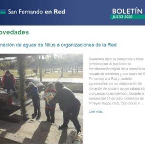 Boletín de Julio de San Fernando en Red