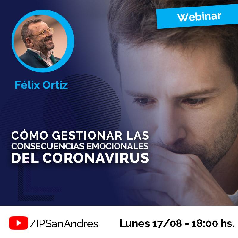 «Cómo gestionar las consecuencias emocionales del coronavirus»