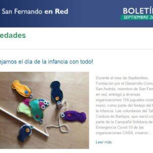 Boletín Septiembre San Fernando en Red