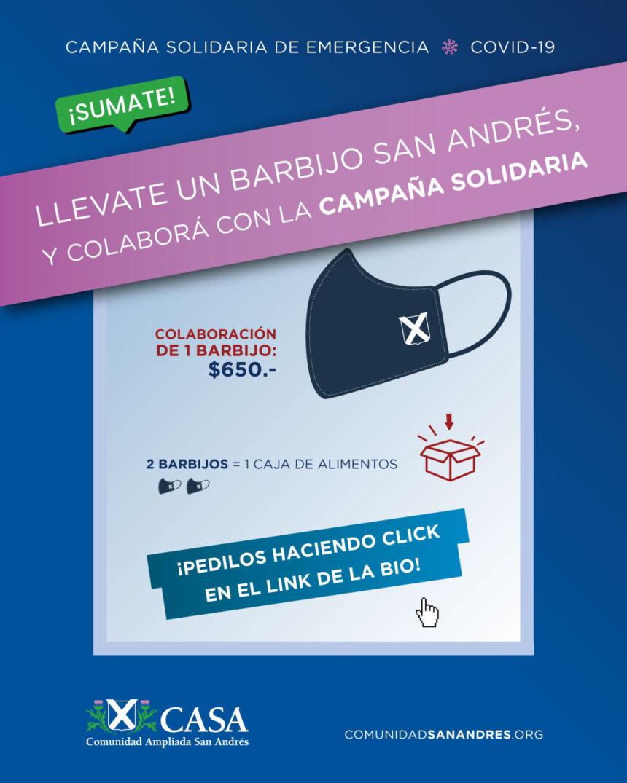 Barbijos San Andrés – ¡Colaborá con la Campaña Solidaria! Te cuidás y ayudás !