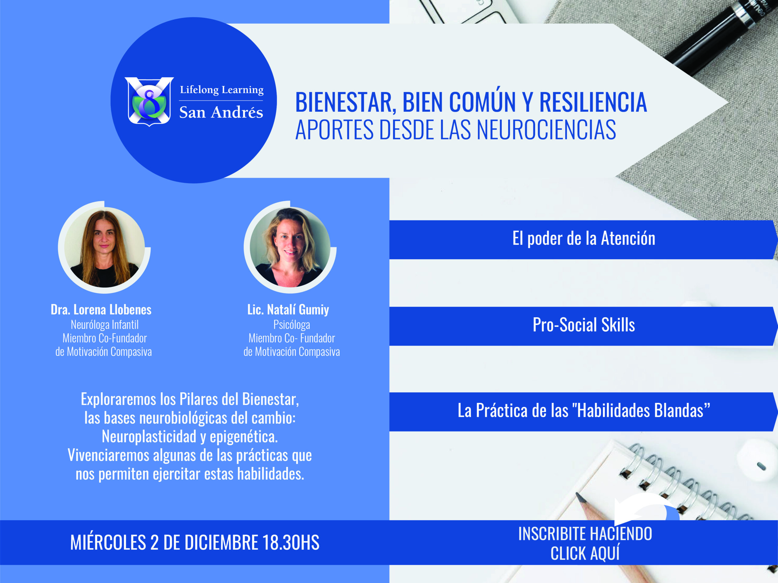 Lifelong Learning San Andrés Bienestar, bien común y resiliencia – Miércoles 2 de diciembre 18.30hs