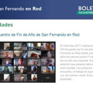 Boletín Noviembre 2020 -San Fernando en Red