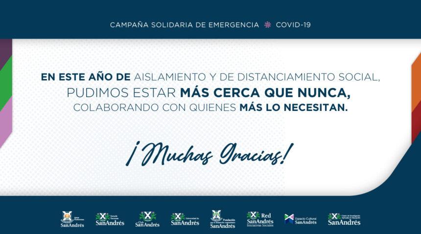 ¡MUCHAS GRACIAS! Resumen Campaña Solidaria de Emergencia 2020
