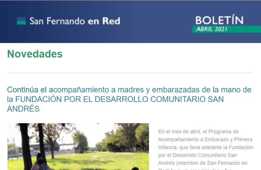 Boletín San Fernando en Red – Abril 2021
