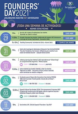 FOUNDERS ´ DAY 2021  ¡CELEBRAMOS NUESTRO 183º ANIVERSARIO!
